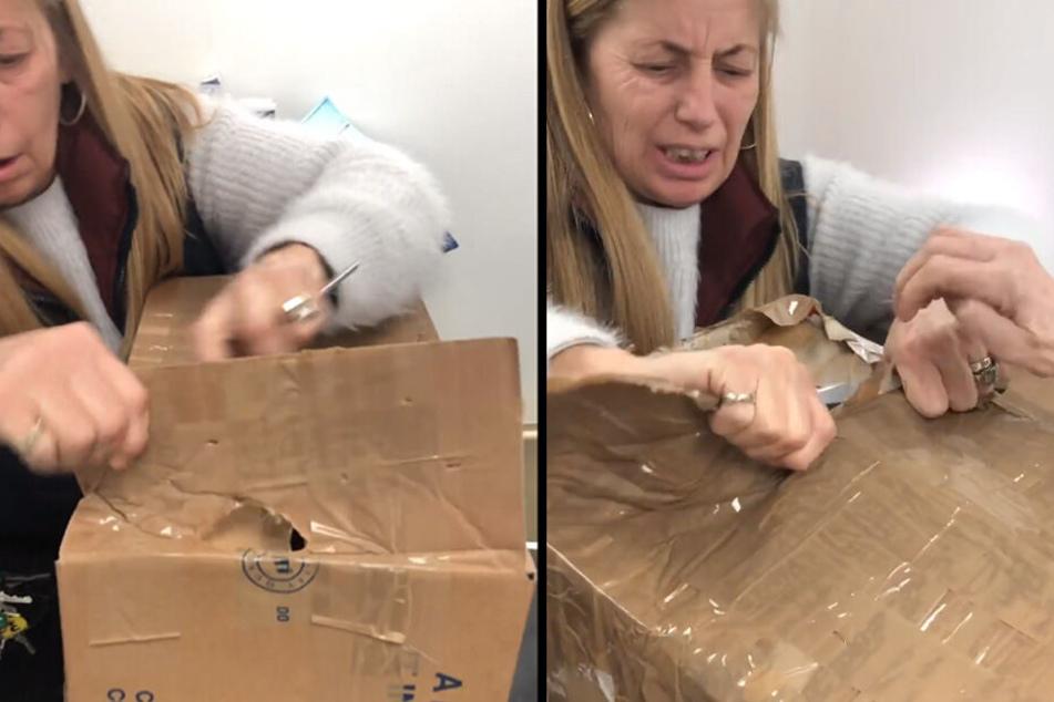 Warum diese Frau verzweifelt die Kisten öffnet, ist einfach grausam!