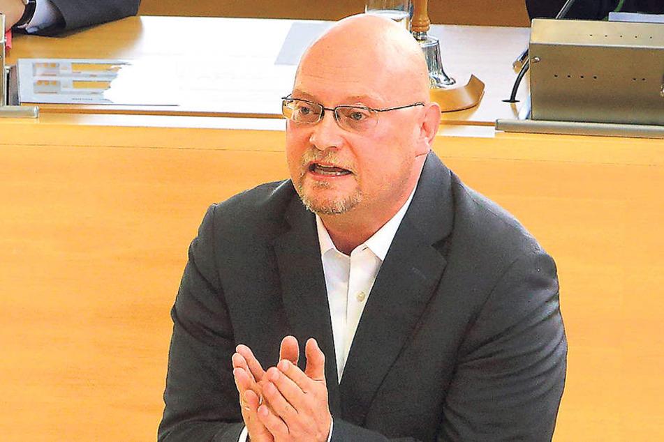 Enrico Stange ist Sprecher für Innenpolitik in der Landtags-Fraktion der  Linken.
