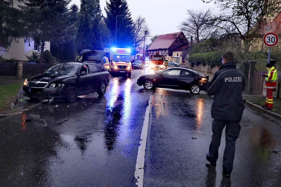 Unfall auf der Königsbrücker Landstraße!