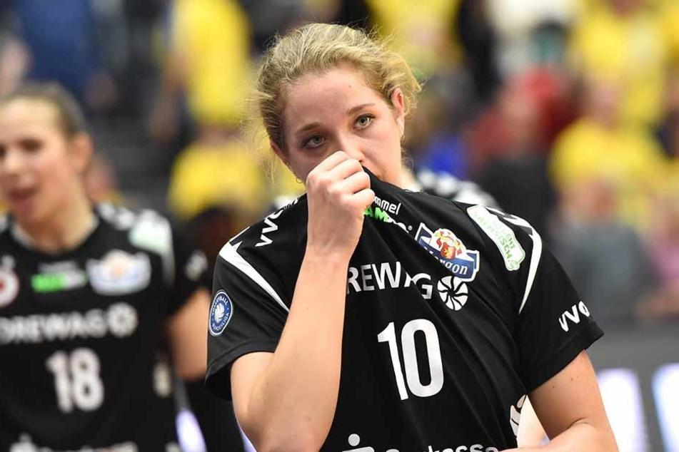 Die Dresdnerin Madison Bugg hatte nach dem 1:3 Tränen in den Augen.