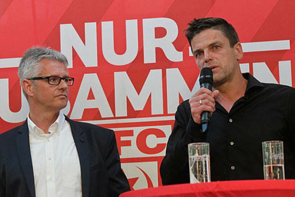 Torsten Ziegner (r.) absolvierte seinen ersten offiziellen Termin für den neuen Arbeitgeber HFC.