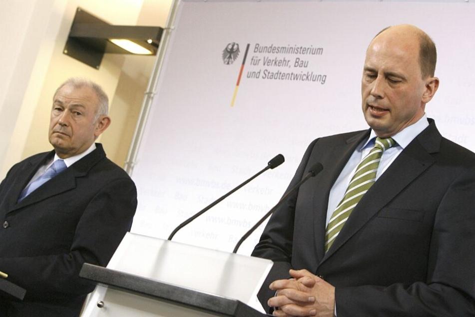 Vor über zehn Jahren, als der Bau des Flughafens begann, war noch Wolfgang Tiefensee als Verkehrsminister verantwortlich.
