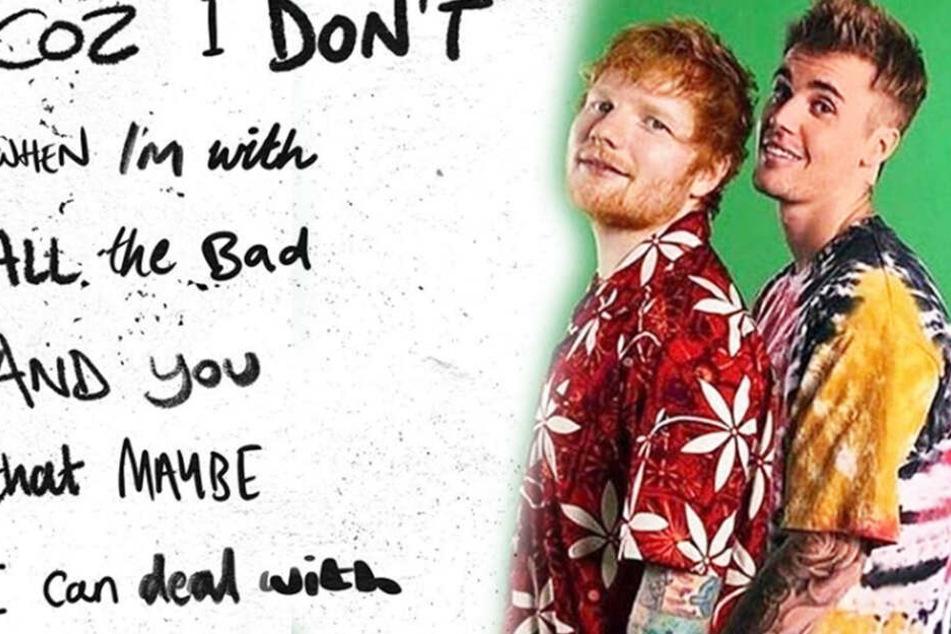 """""""I Don't Care"""": Gemeinsamer Song von Ed Sheeran und Justin Bieber ist draußen!"""