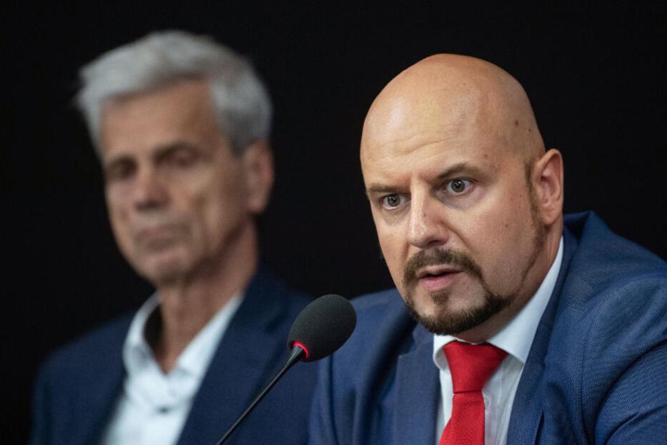 Stefan Räpple (rechts) zusammen mit dem AfD-Antisemiten Wolfgang Gedeon.