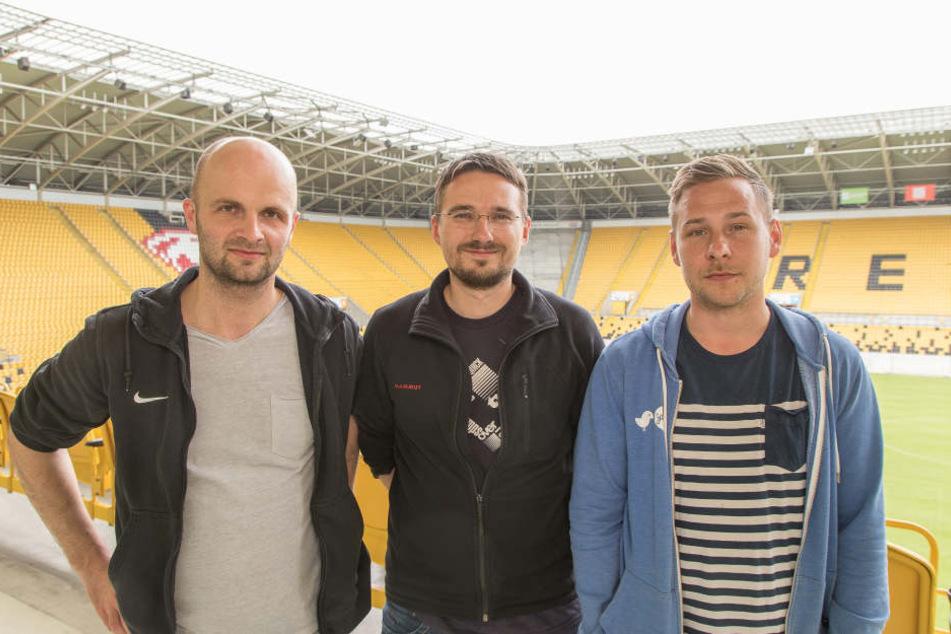 Die Köpfe hinter dem Filmprojekt: Jan Franke, Steffen Kuttner und Henry Buschmann (v.l.n.r.).