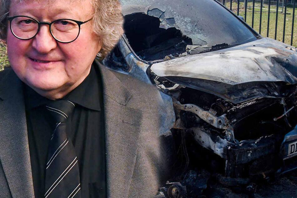 Auto von Professor Patzelt abgefackelt! Antifa bekennt sich zur Tat