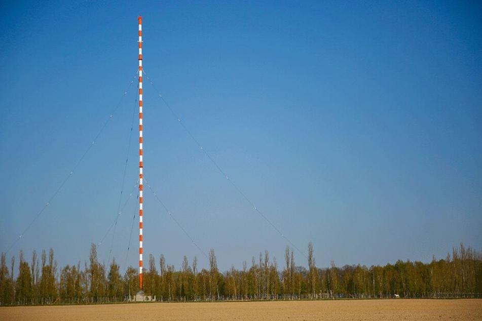 Der 154 Meter hohe Funkturm ist nicht nur für die Wilsdruffer ein Wahrzeichen der Region.