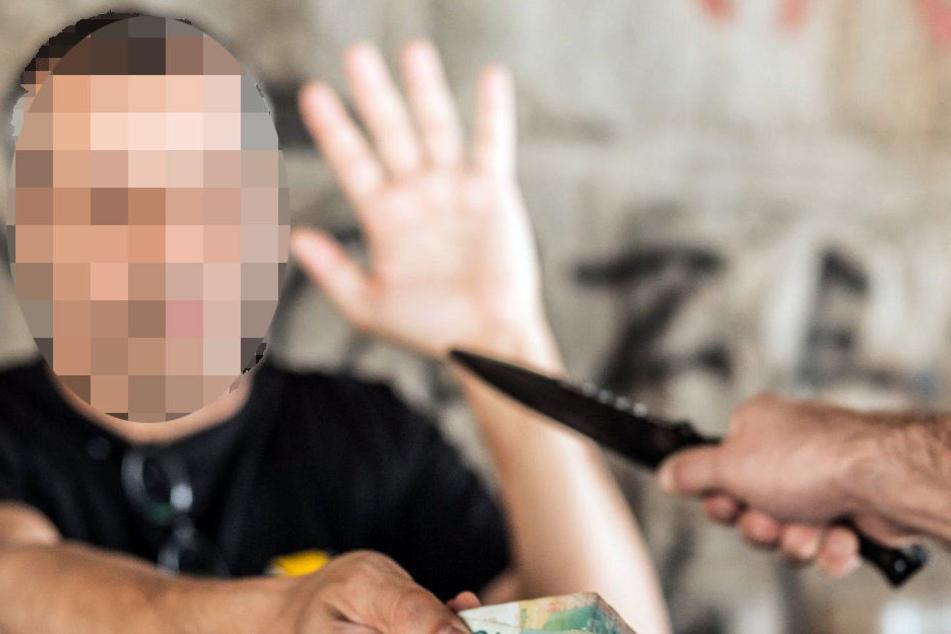 Räuber bedroht Opfer in Gera mit Messer