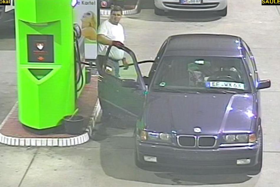 Die Polizei sucht nach diesem Benzindieb.