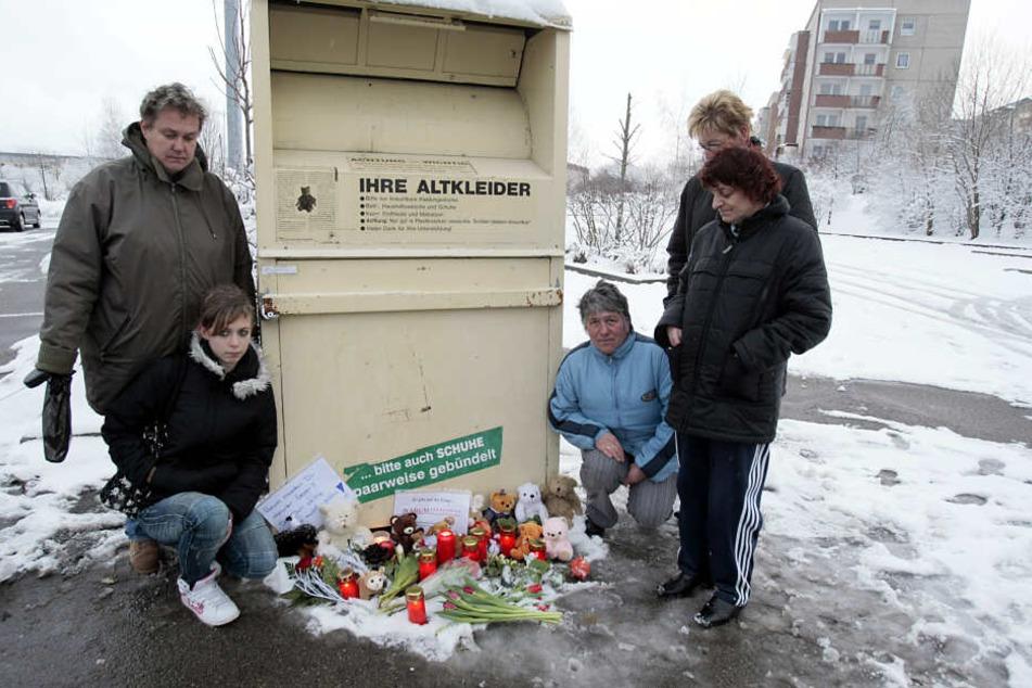 In diesem Container wurde am 19. Januar 2011 ein toter Säugling gefunden. Der Fall erschüttert die Schwarzenberger bis heute.