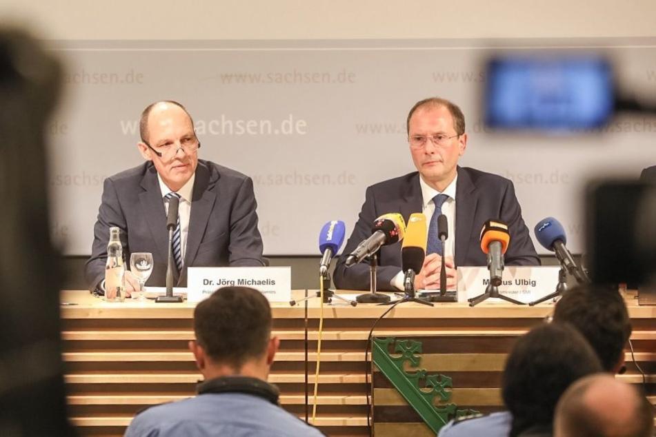Der sächsische Staatsminister des Innern, Markus Ulbig (re.).