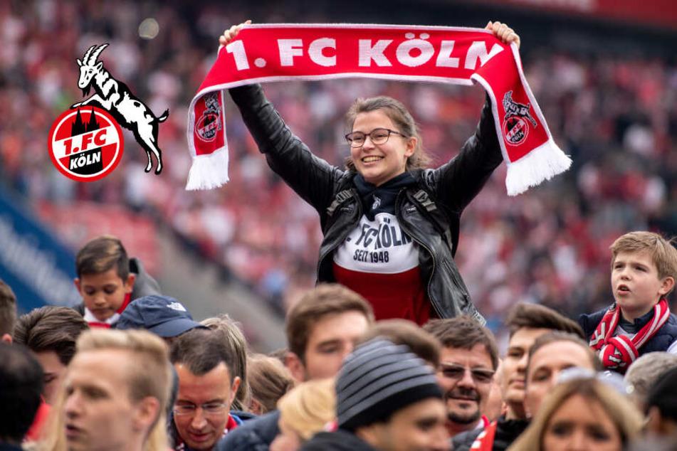 1 Fc Koln Feiert Saisoneroffnung Zehntausende Fussball Fans