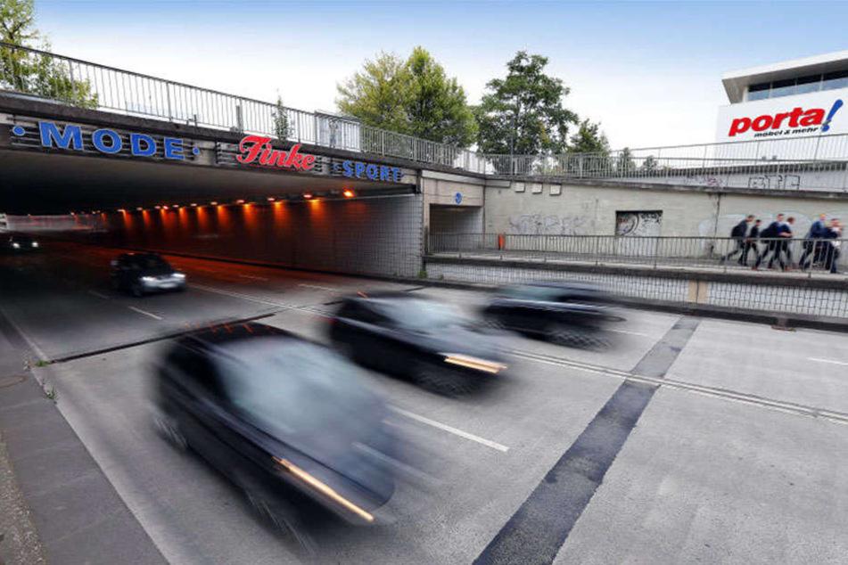 Der Friedrich-Ebert-Tunnel soll bald von Radarfallen überwacht werden.