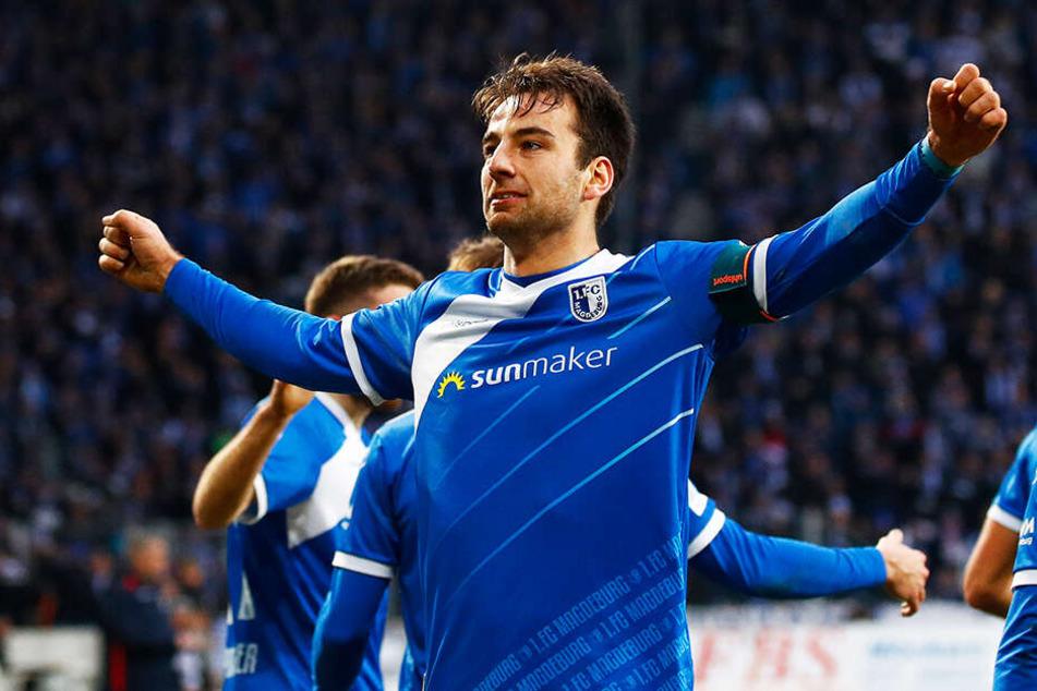 Der Kapitän bleibt an Bord: Christian Beck wird auch in der kommenden Saison für Magdeburg auf Torejagd gehen.