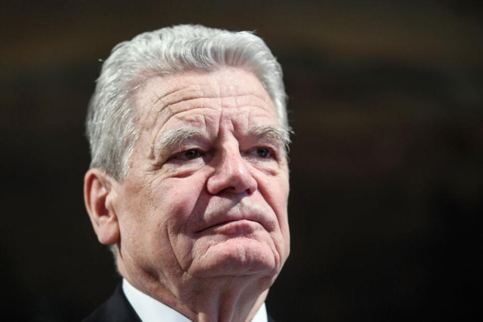 Altpräsident Joachim Gauck (79).