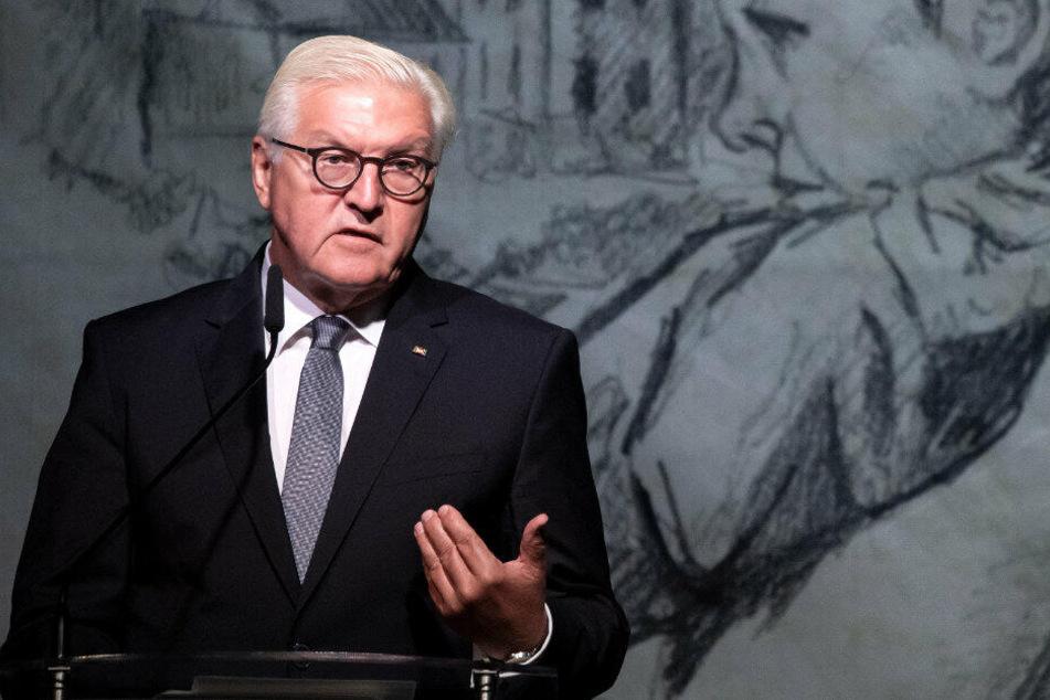 Bundespräsident Frank Walter Steinmeier bat in Wielun Polen um Vergebung.