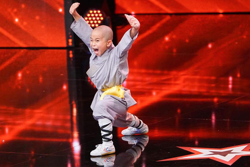 Auf der Supertalent-Bühne wirkt Quoc Bao An Ngo gar nicht schüchtern.