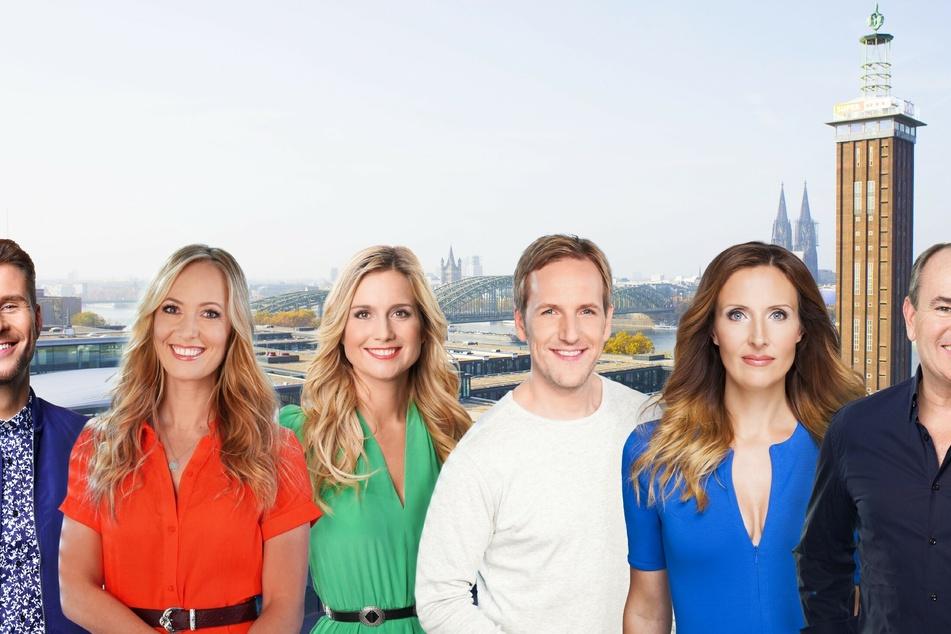 """Die Kolleginnen und Kollegen der RTL-Show """"Guten Morgen Deutschland"""" trauern um Jahn Hohn (†47, 3.v.r.)."""