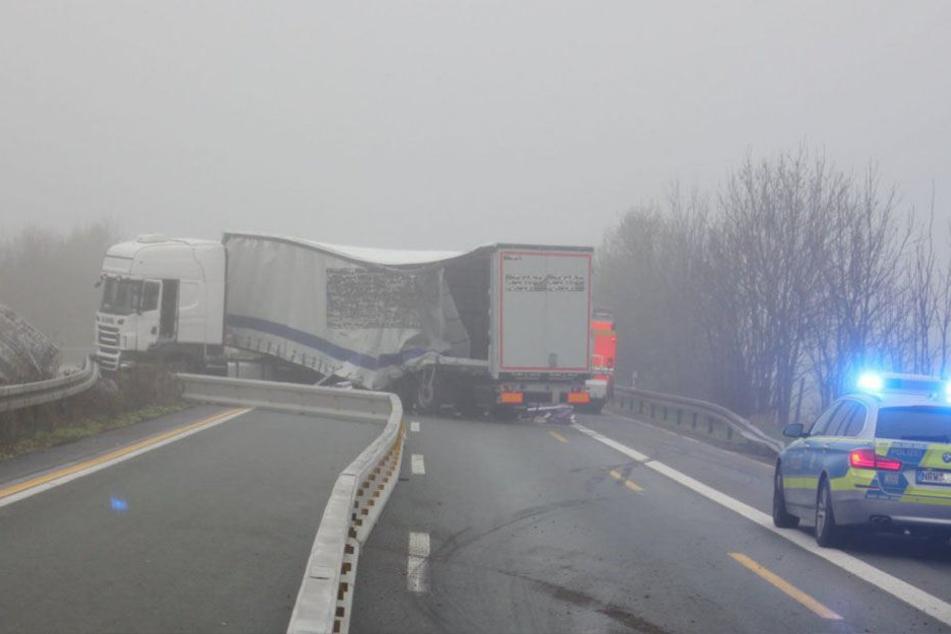 Anfang April raste ein Lastwagen in die Mittelschutzplanke.