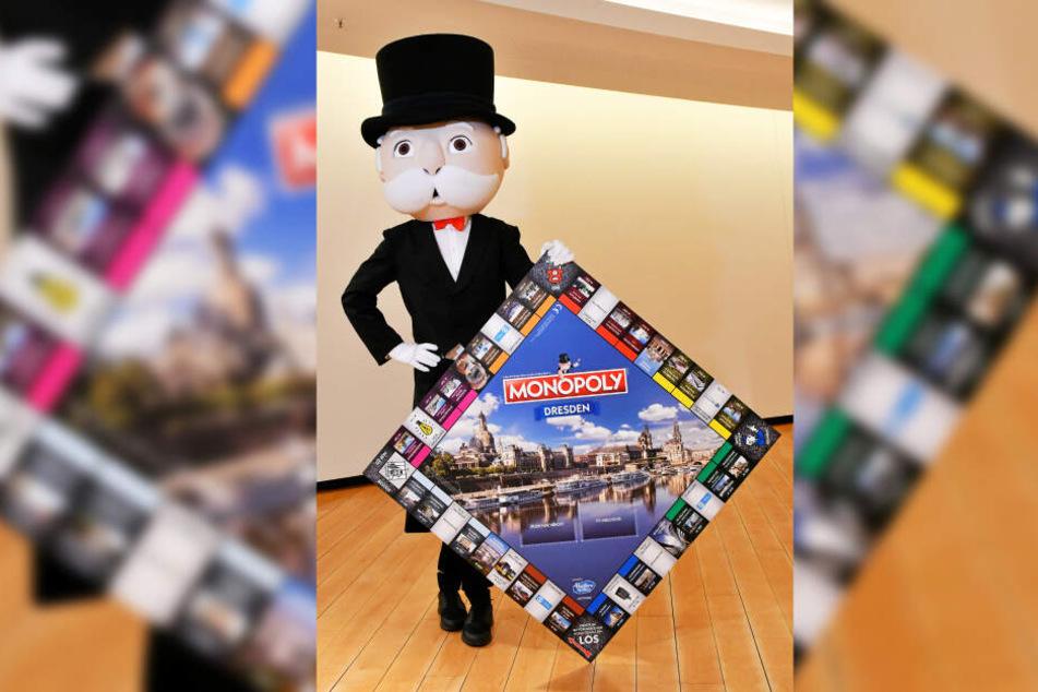 Mr. Monopoly zeigt sein neues Zuhause.