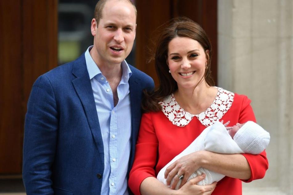 Prinz William (36) und Herzogin Catherine (36) mit ihrem Sohn Prinz Louis.