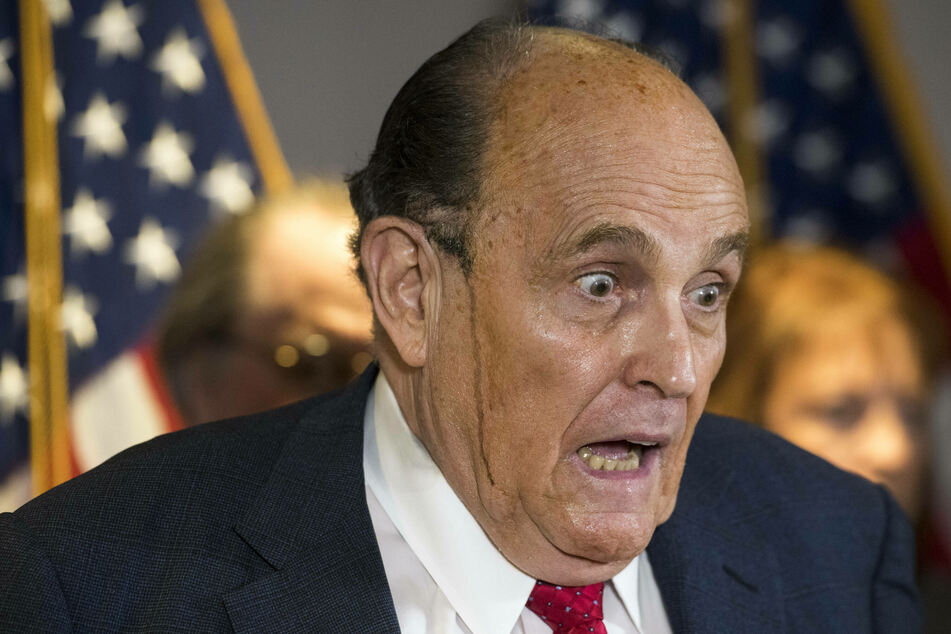 Rudy Giuliani's theories get wilder and wilder as hair dye pours down his cheeks on live TV.