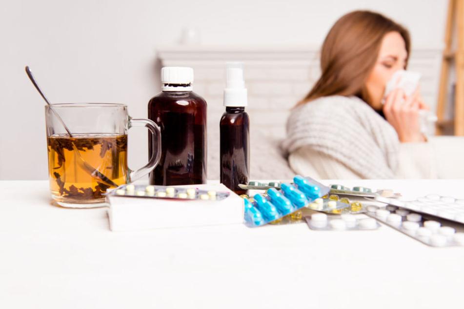 In Sachsen gibt es seit Beginn der Grippesaison schon über 300 Erkrankungen. (Symbolbild)