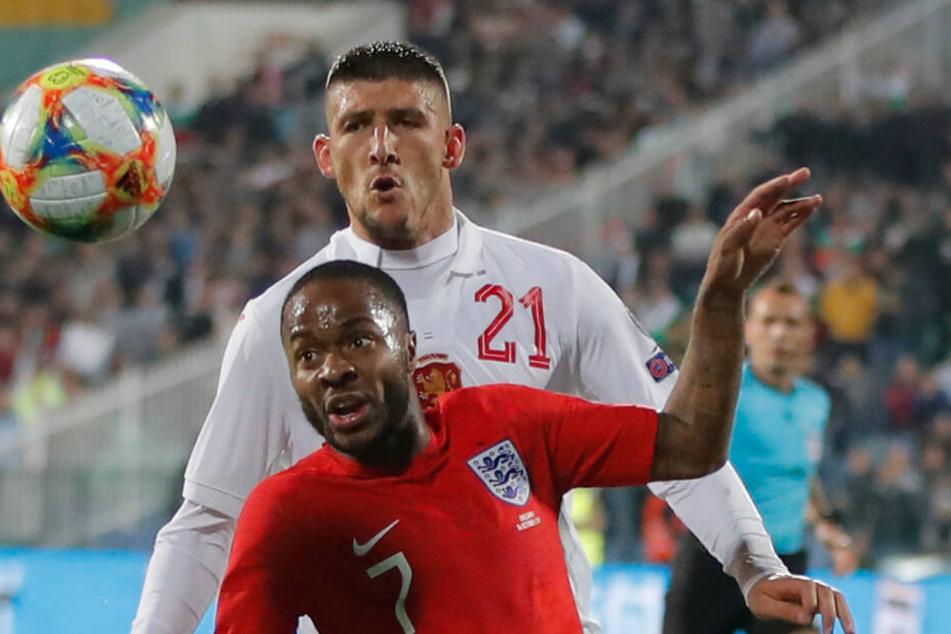 """Der Engländer Raheem Sterling war doppelter Torschütze beim 6:0-Erfolg """"Three Lions"""". Er war aber auch das Hauptziel der rassistischen Anfeindungen."""