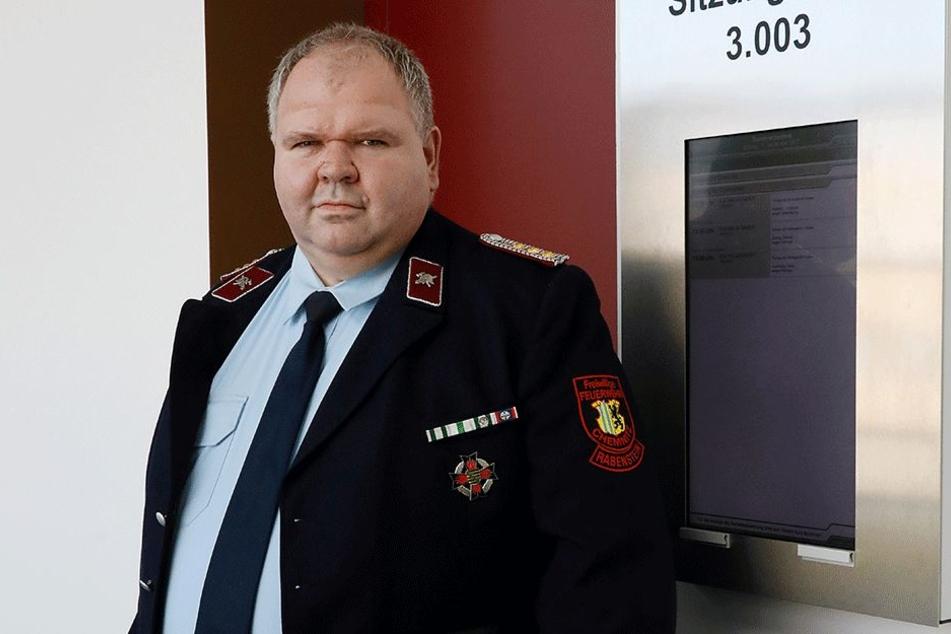 Sprecher des Stadtfeuerwehrverbands: Dr. Thomas Lange (49)