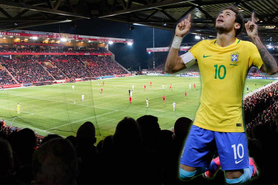 Im Stadion An der Alten Försterei von Union Berlin wird das brasilianische Nationalteam trainieren. (Bildmontage)