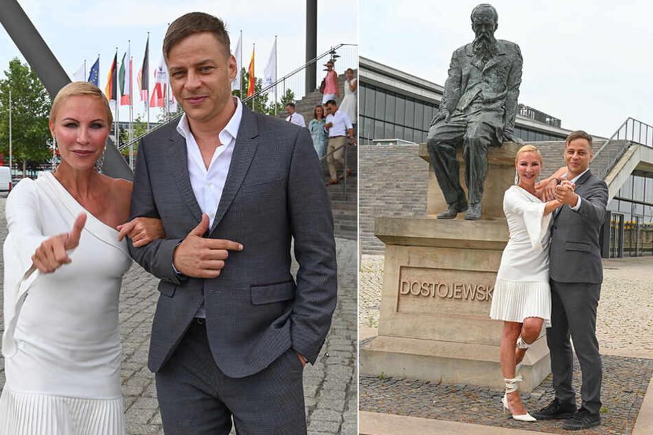 Sexy Sachsen-Star-Export nach St. Petersburg: Tom Wlaschiha (46) wagt einen Walzer mit Opernsängerin Nadja Michael (50).