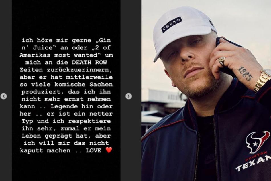 Bonez MC hat ein klares Statement bei Instagram gepostet.