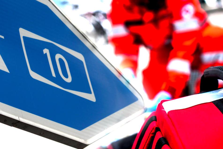 Tödlicher Crash: 27-Jähriger stirbt bei Unfall auf A10