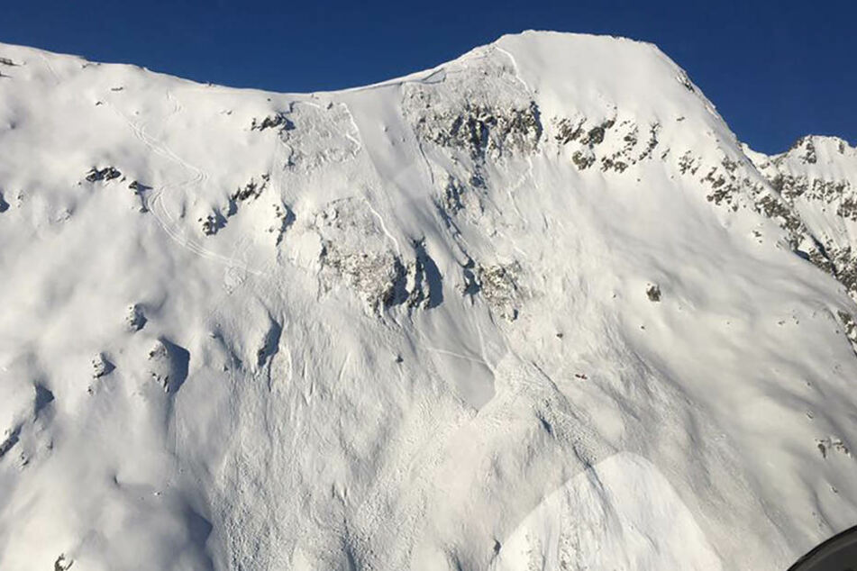 Das von der Kantonspolizei Wallis zur Verfügung gestellte Foto zeigt einen Teil des Skigebiets Belalp.