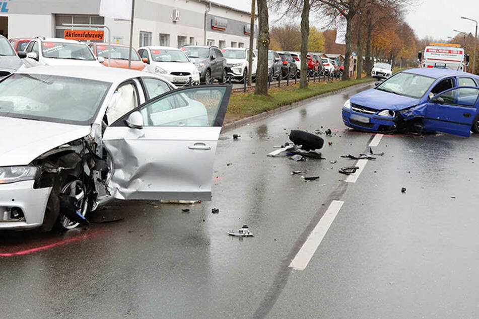 Mehrere Verletzte nach Unfällen in Chemnitz