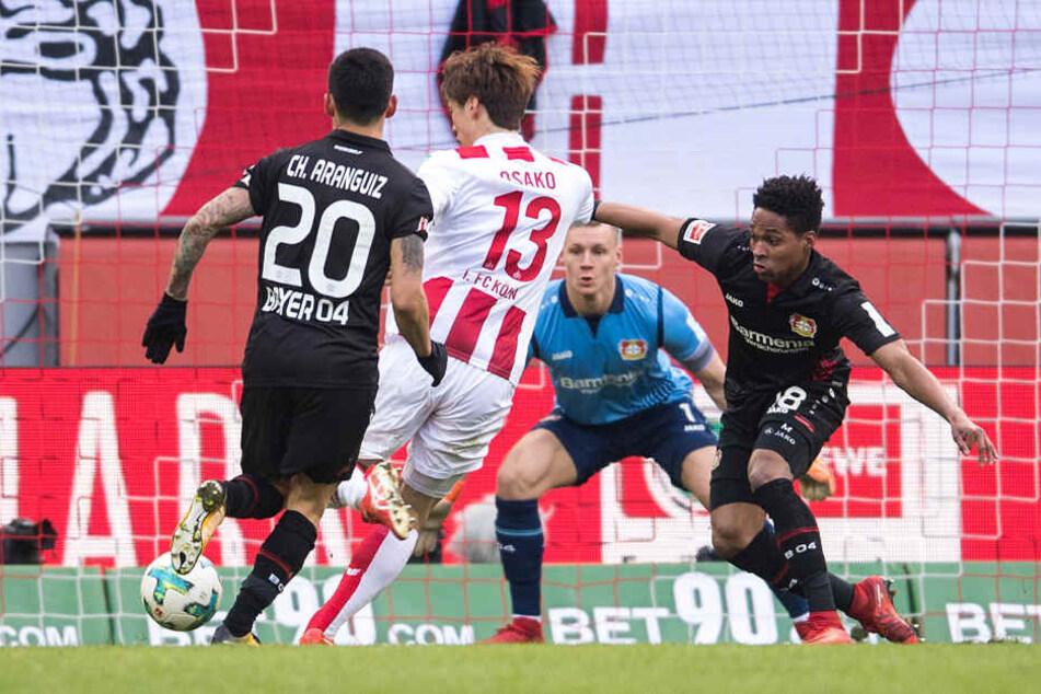 Der Japaner Osako bezwang den Leverkusener Torwart Bernd Leno bereits nach neun Minuten.