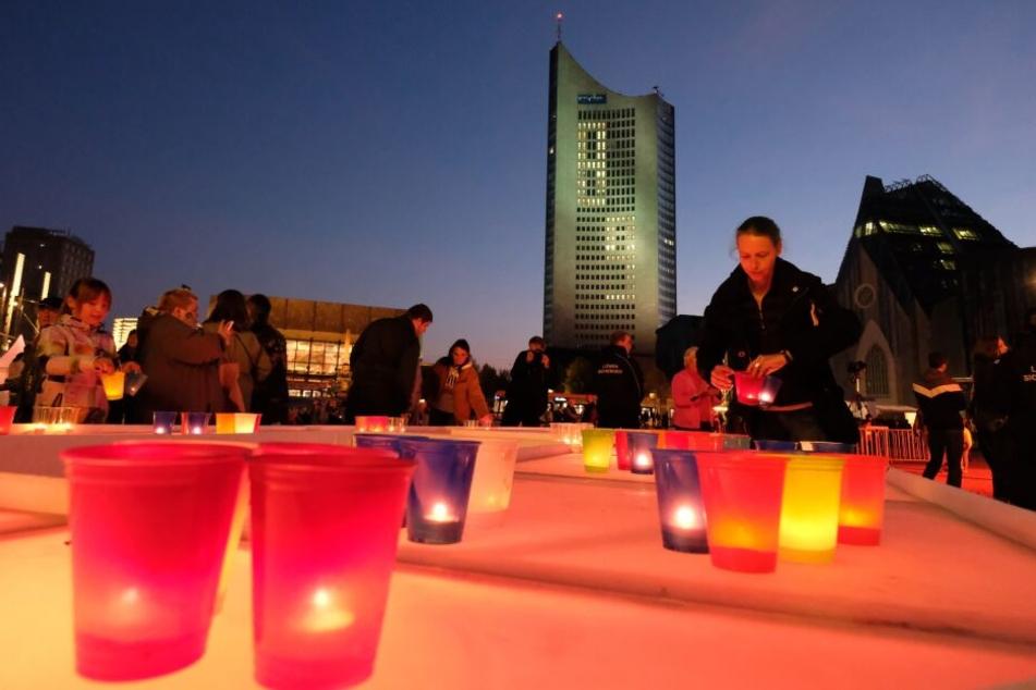 Lichtring, Musik, Poetry-Slam: Das erwartet Leipzig zum Lichtfest am 9. Oktober