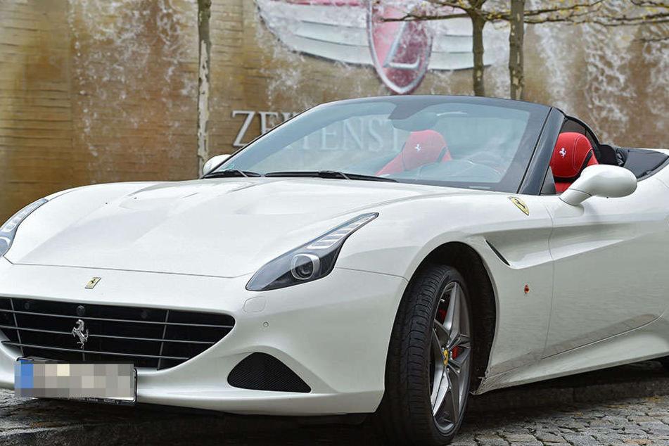 Dieser Ferrari California ist einer von 226 Autos in Dresden, die mehr als  500 PS Leistung haben