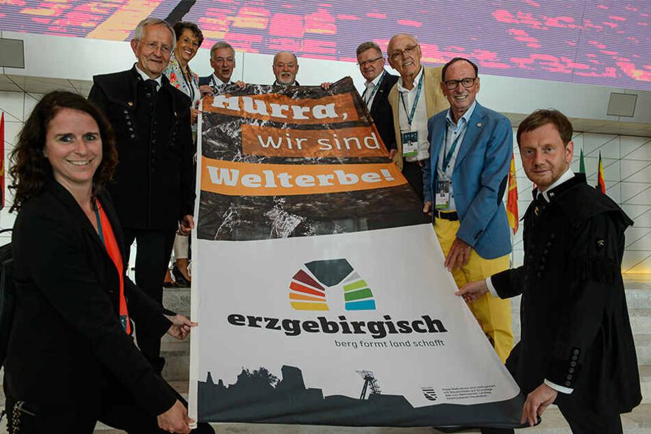 Jubel in Olbernhau. Politiker, Bergleute und Touristiker feierten Sonntag den Titel.