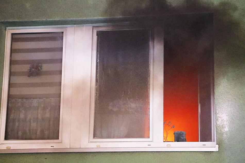 Das Feuer in der Chemnitzer Scharnhorststraße war in einer Küche im Erdgeschoss ausgebrochen.