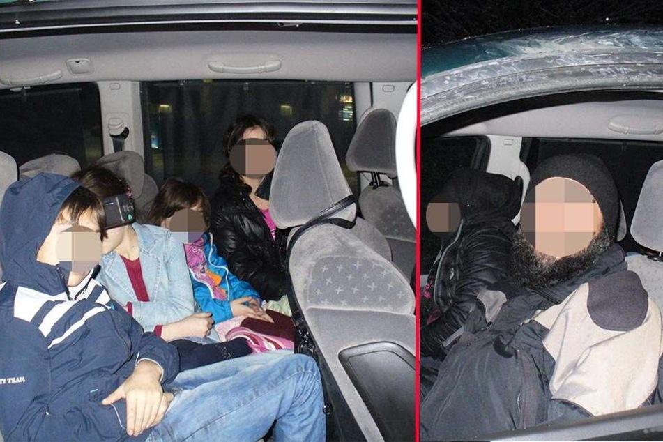 Mehrere Autos mit Schleusern hat die Bundespolizei von Mittwoch zu Donnerstag bei Görlitz hochgenommen.