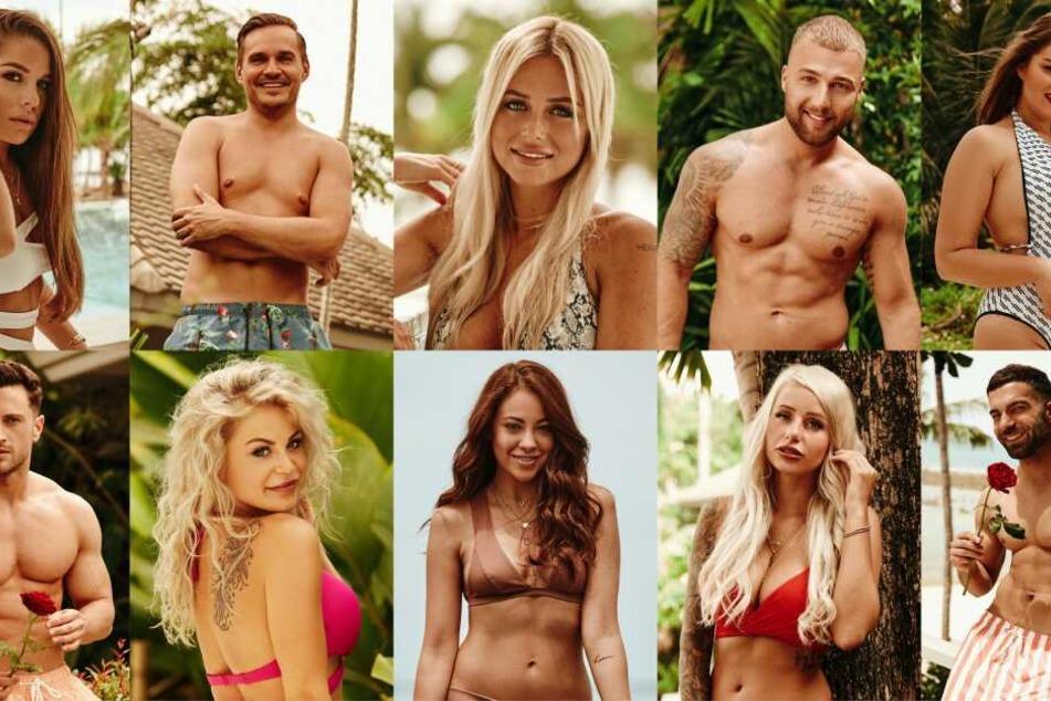 """Einige der Kandidaten bei """"Bachelor in Paradise"""": Meike, Sören, Jade, Filip und Ernestine, unten v.l.: Sebastian, Michelle, Natalie, Carina und Rafi"""