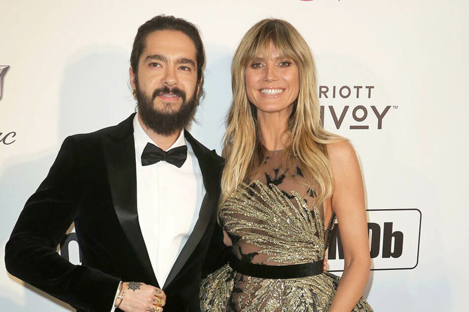Heidi Klum und Tom Kaulitz, chic angezogen bei der Elton John AIDS Foundation Oscar Viewing Party 2019.