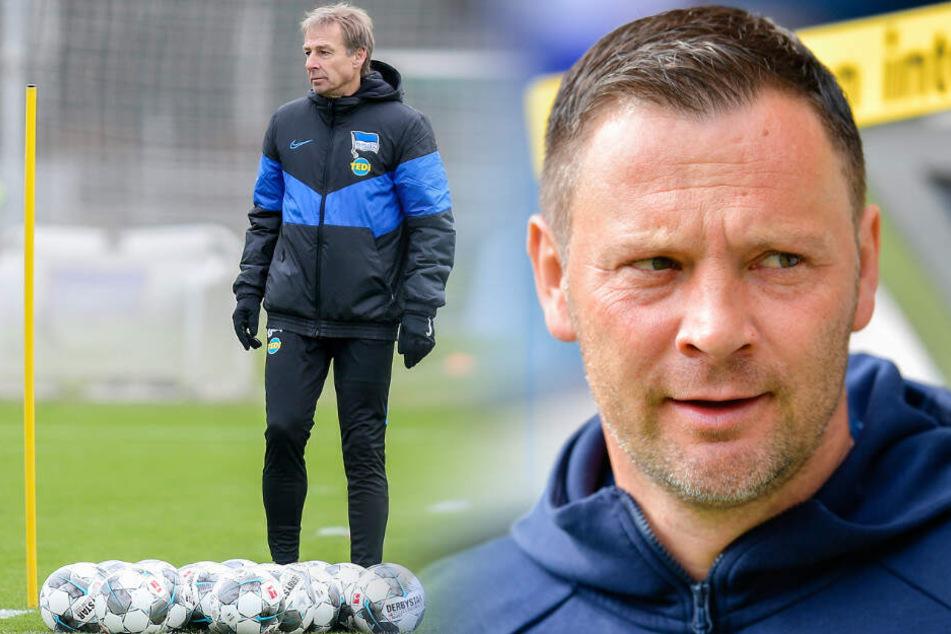 Pal Dardai (r.) trainierte viereinhalb Jahre Hertha BSC. Inzwischen steht Jürgen Klinsmann (l.) an der Seitenlinie. (Bildmontage)
