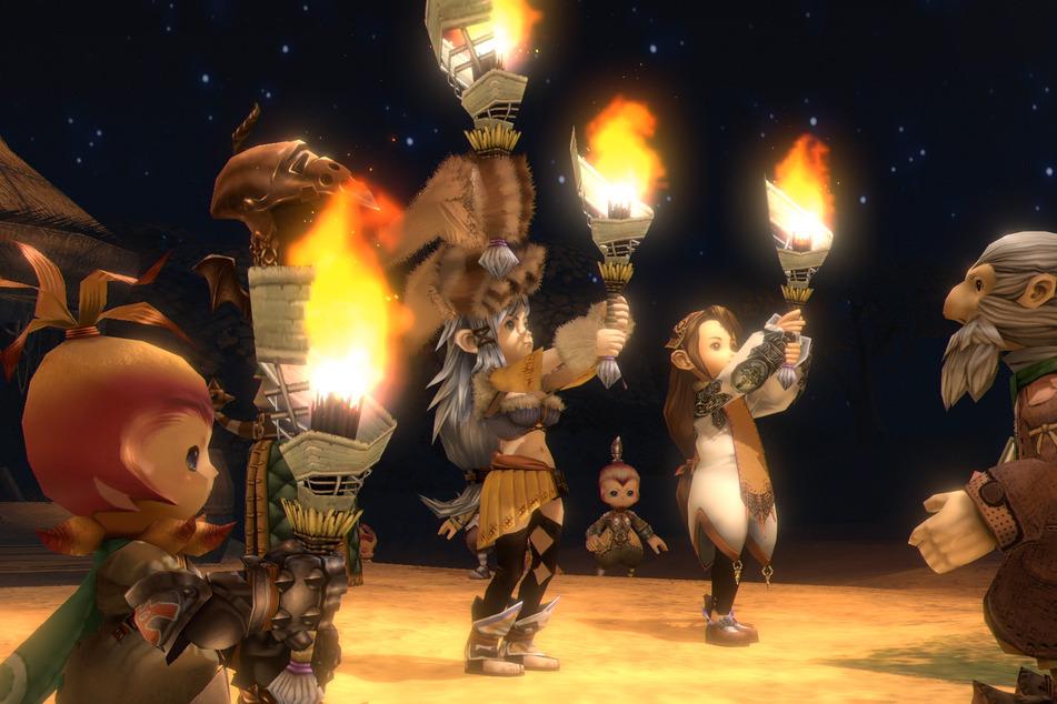 Kehrt die Gruppe mit vollem Myrretaugefäß ins Dorf zurück, kann das Fest beginnen.
