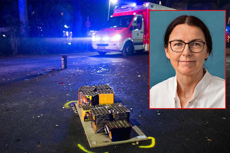 Prof. Petra Meier, stellvertretende Direktorin der UKL-Augenklinik in Leipzig, warnt vor Silvester-Raketen.