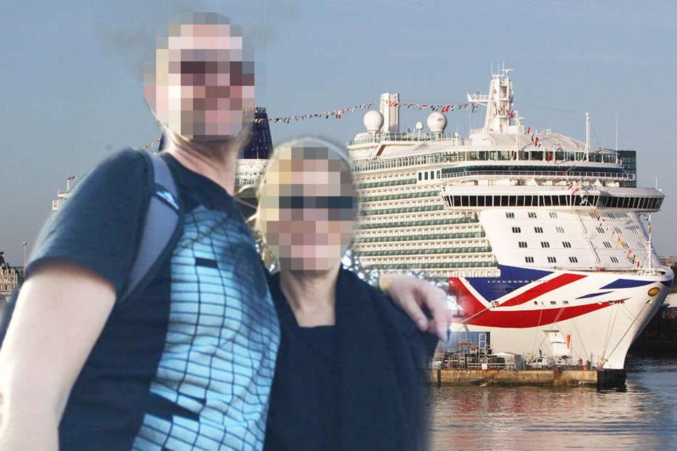Natasha mit ihrem Mann in einem Urlaub. Am Donnerstag sprang sie von einem Luxusliner in den Tod.