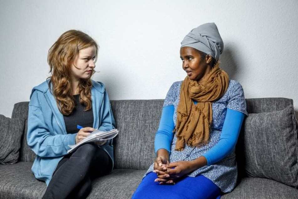 Opfer Awo D. (19) im Gespräch mit TAG24-Reporterin Franziska Klemenz.