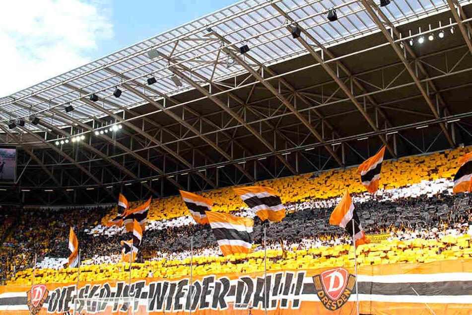 Bei der Rückkehr in die 2. Liga hatten die Dynamo-Fans ihre Choreografie gezeigt, dieses Motto sollten die Kicker morgen mit Leben füllen, sonst kreist das Abstiegsgespenst im DDV-Stadion.