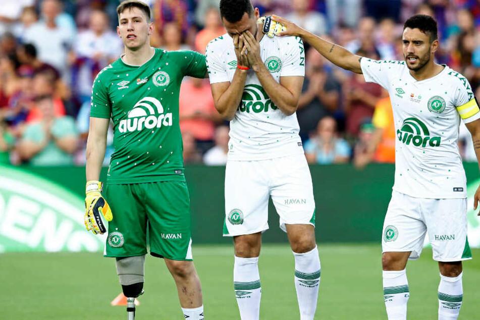 Nur drei Spieler der brasilianischen Fußballmannschaft überlebten den Absturz.